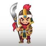 Ilustração chinesa do guerreiro do vetor ilustração royalty free