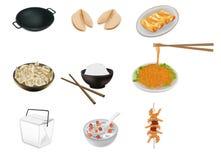 Ilustração chinesa do vetor do alimento Foto de Stock