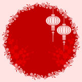 Ilustração chinesa oriental da lanterna ilustração stock