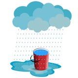 Ilustração chuvosa do vetor do tempo no fundo branco Imagens de Stock