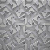 Ilustração cinzelada à moda do fundo 3D do metal ilustração stock