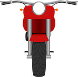 Ilustração clássica da opinião dianteira da motocicleta ilustração stock