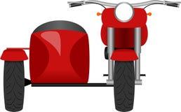 Ilustração clássica da opinião dianteira da motocicleta ilustração do vetor