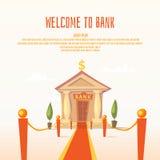 Ilustração clássica do banco com colunas ilustração stock