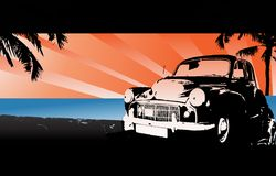 Ilustração clássica do carro ilustração stock