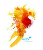 Ilustração colorida abstrata do respingo. Fotografia de Stock Royalty Free