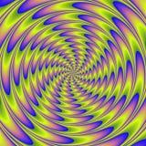Ilustração colorida da espiral psicótico Fotografia de Stock Royalty Free