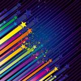 ilustração colorida da estrela Fotografia de Stock Royalty Free