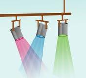 Ilustração colorida da luz do estágio imagem de stock