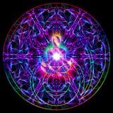 Ilustração colorida da mandala do sumário sagrado da meditação ilustração royalty free