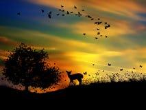 Ilustração colorida da mola do céu Imagem de Stock