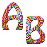 A, ilustração colorida da pia batismal da onda de B. Imagem de Stock