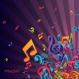 Ilustração colorida das notas Foto de Stock Royalty Free