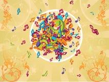 Ilustração colorida das notas Fotografia de Stock Royalty Free