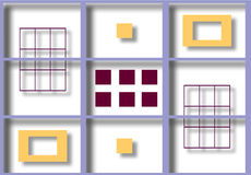 Ilustração colorida de quadrados protegidos Imagens de Stock