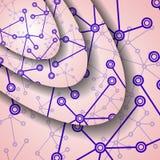 Ilustração colorida do ADN Foto de Stock
