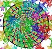 Ilustração colorida do fundo das estrelas Fotos de Stock