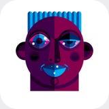 Ilustração colorida do vetor da cara da personalidade Imagens de Stock