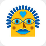 Ilustração colorida do vetor da cara da personalidade feita do geometri Fotografia de Stock Royalty Free
