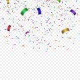 Ilustração colorida do vetor dos confetes Fotografia de Stock