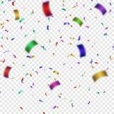Ilustração colorida do vetor dos confetes Imagens de Stock