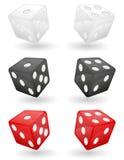 Ilustração colorida do vetor dos dados do casino Fotografia de Stock