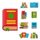 A ilustração colorida do vetor do livro aprende o estudo da literatura ilustração stock