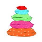 Ilustração colorida isolada do descanso-vetor Imagens de Stock