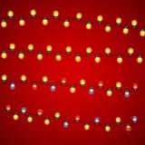 Ilustração colorido de Garland Lamp Bulbs Festive Vetora ilustração royalty free