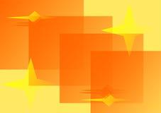 Ilustração com as estrelas no yel ilustração stock