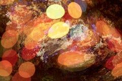 Ilustração com círculos, fundo colorido, rústico com círculos Foto de Stock Royalty Free