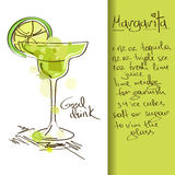 Ilustração com cocktail de Margarita ilustração do vetor