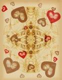 Ilustração com coração ilustração stock