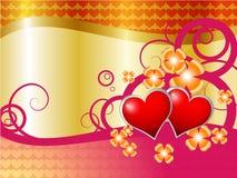 Ilustração com corações Imagens de Stock Royalty Free