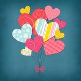 Ilustração com corações Foto de Stock Royalty Free