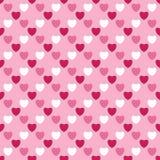 Ilustração com corações, fundo sem emenda, teste padrão do coração Fotos de Stock Royalty Free