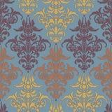Ilustração com a flor da arte na obscuridade - fundo azul Fotos de Stock