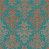Ilustração com a flor da arte no fundo de turquesa Imagens de Stock Royalty Free