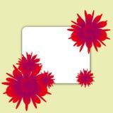 Ilustração com flores Fotografia de Stock Royalty Free