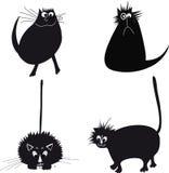 Ilustração com gatos Fotos de Stock