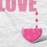 Ilustração com gotas e coração-garrafa. Fotos de Stock Royalty Free