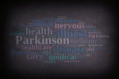 Ilustração com palavras de Parkinson ilustração royalty free