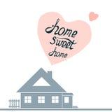 Ilustração com rotulação desenhado à mão HOME doce Home Imagens de Stock Royalty Free