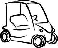 Ilustração com um golfcar Imagem de Stock