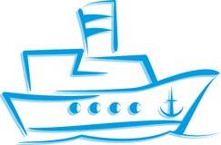 Ilustração com um navio Imagens de Stock