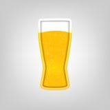 Ilustração com um vidro da cerveja Imagens de Stock