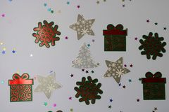 Ilustração com uma árvore de Natal foto de stock royalty free