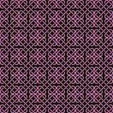 Ilustração complexa do vetor de um teste padrão do elo de corrente no rosa Fotografia de Stock