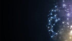 Ilustração conceptual da tecnologia da inteligência artificial Fundo futurista abstrato ilustração do vetor