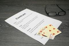 Ilustração conceptual de afrouxar o contrato imagem de stock royalty free